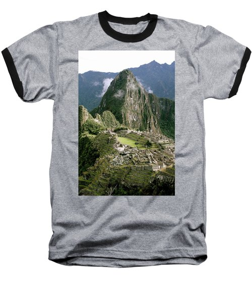 Machu Picchu At Sunrise Baseball T-Shirt