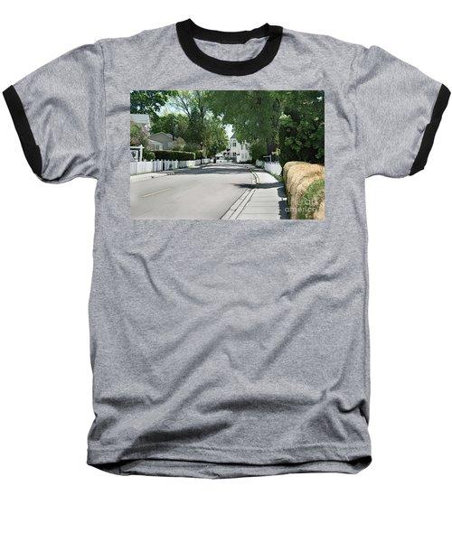 Mackinac Island Street  Baseball T-Shirt