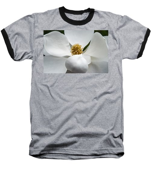 Magnolia Flower Baseball T-Shirt