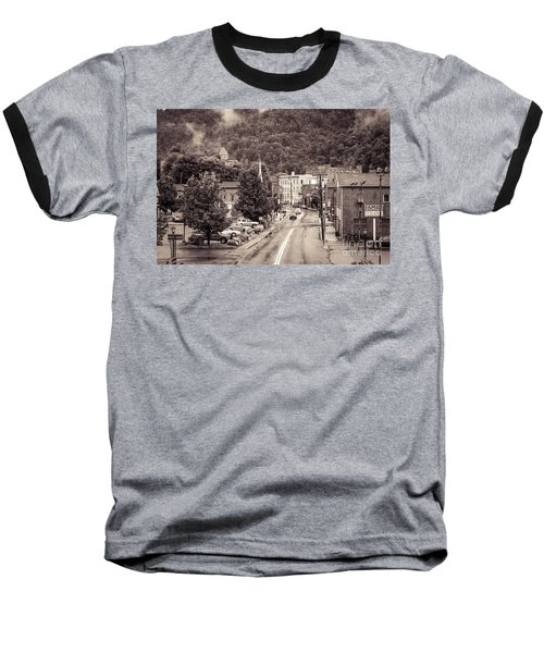 Baseball T-Shirt featuring the photograph Main Street Webster Springs by Thomas R Fletcher