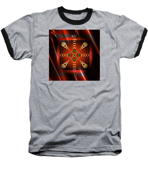 Baseball T-Shirt featuring the digital art Mandala Burning by Mario Carini