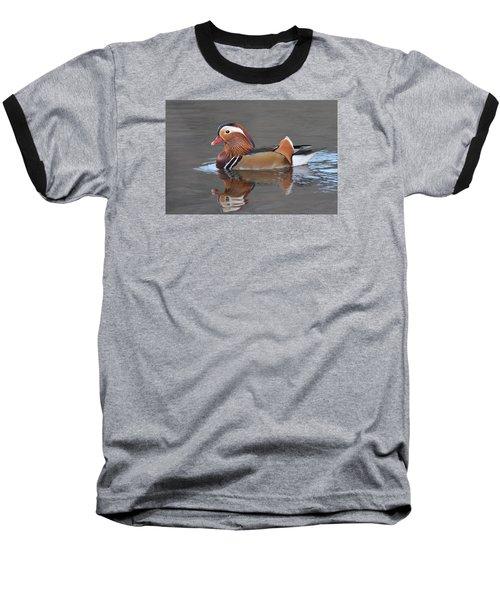 Mandarin Duck Baseball T-Shirt by Alan Lenk