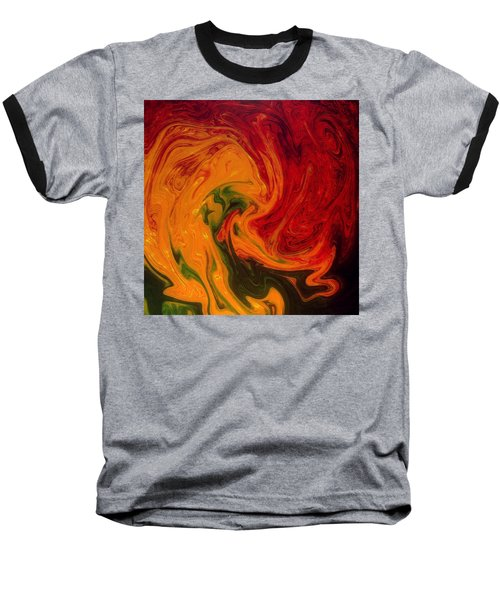 Marble Texture Baseball T-Shirt by Anton Kalinichev