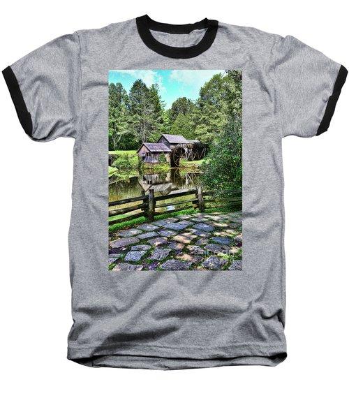 Marby Mill Pathway Baseball T-Shirt by Paul Ward