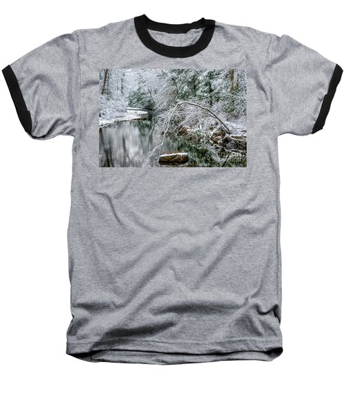 Baseball T-Shirt featuring the photograph March Snow Cranberry River by Thomas R Fletcher