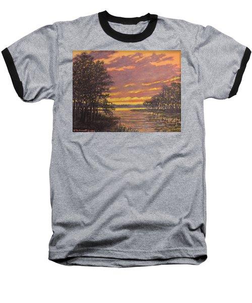 Baseball T-Shirt featuring the painting Marsh Sketch # 7 by Kathleen McDermott