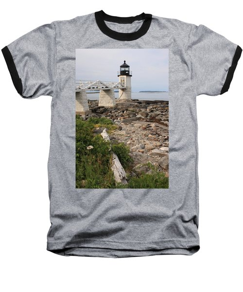 Marshall Point Lighthouse Baseball T-Shirt