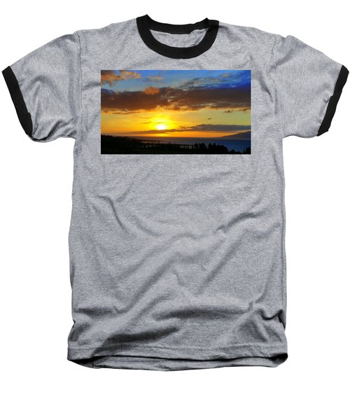 Maui Sunset At The Plantation House Baseball T-Shirt