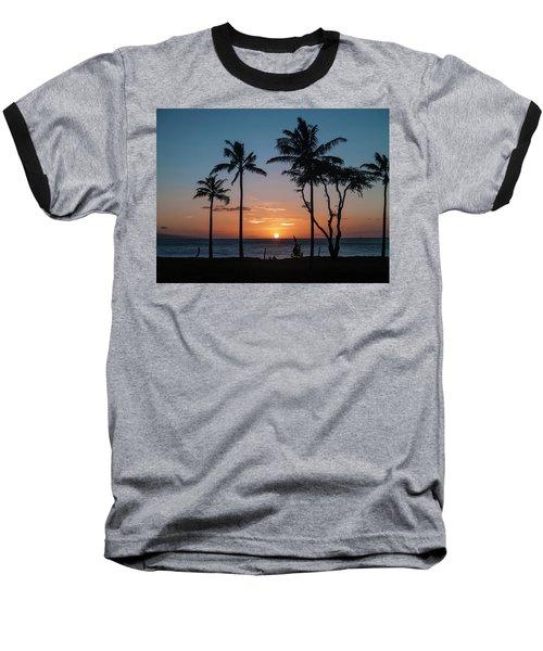 Maui Sunset Baseball T-Shirt