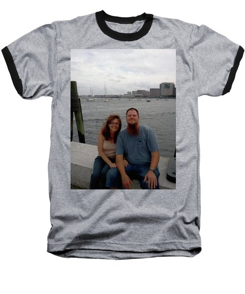 Baseball T-Shirt featuring the photograph me by Richie Montgomery