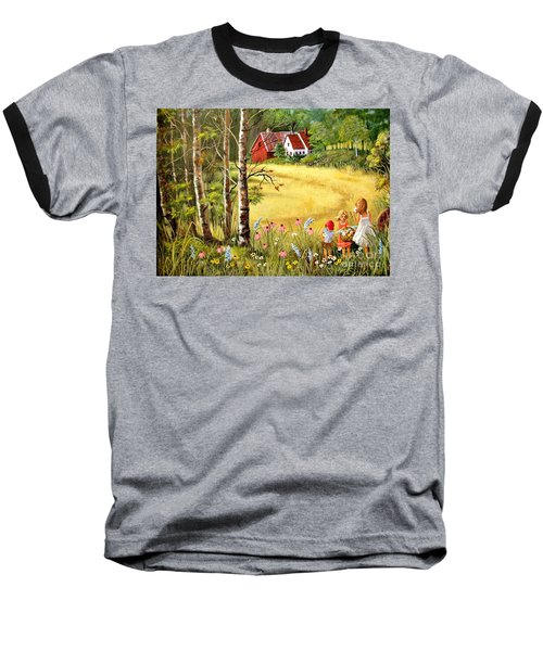 Memories For Mom Baseball T-Shirt by Marilyn Smith