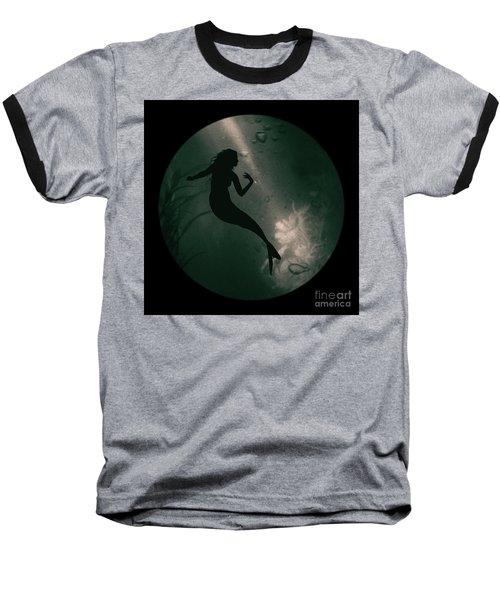 Mermaid Deep Underwater Baseball T-Shirt