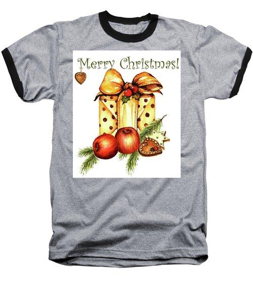 Merry Christmas Baseball T-Shirt by Heidi Kriel
