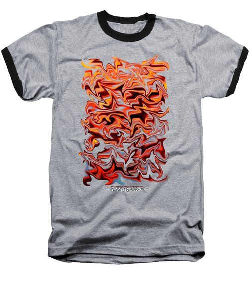 Metallic Fire Transparency Baseball T-Shirt
