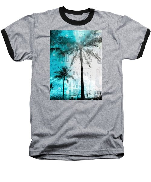 Baseball T-Shirt featuring the photograph Miami Palm Trees by France Laliberte