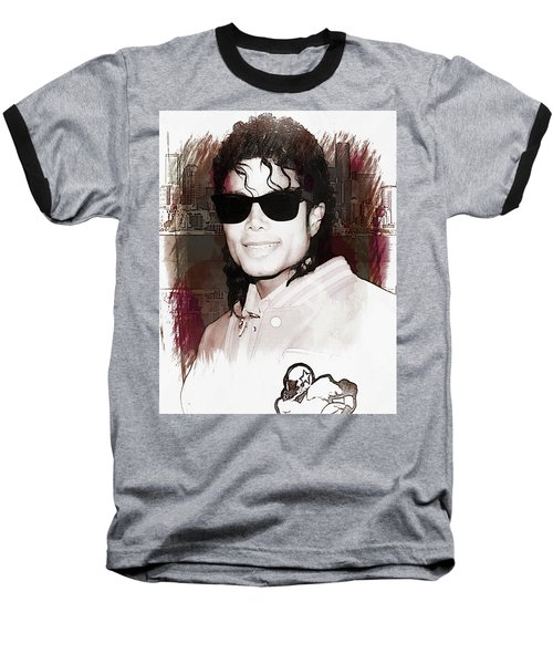 Michael Jackson Baseball T-Shirt