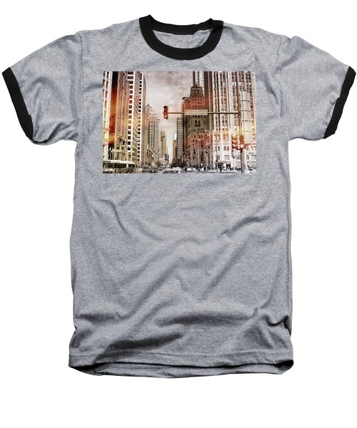 Michigan Ave - Chicago  Baseball T-Shirt