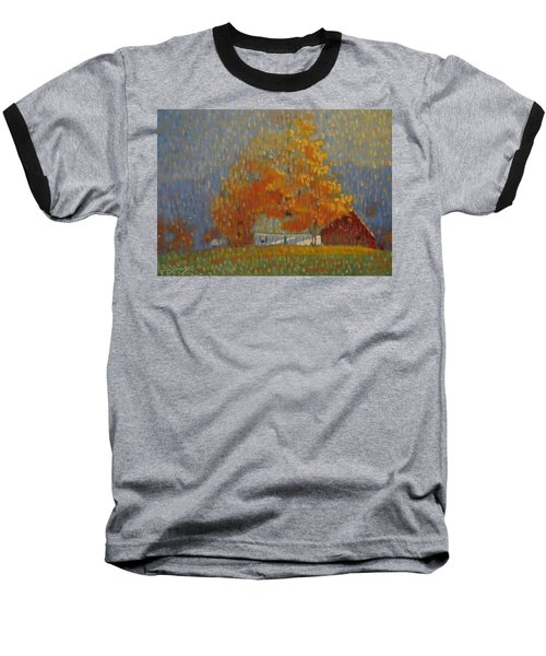 Middle Farm Foliage Baseball T-Shirt