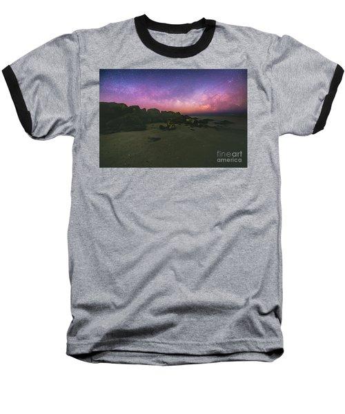 Milky Way Beach Baseball T-Shirt by Robert Loe