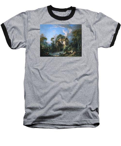 Mill At Charenton Baseball T-Shirt by Francois Boucher