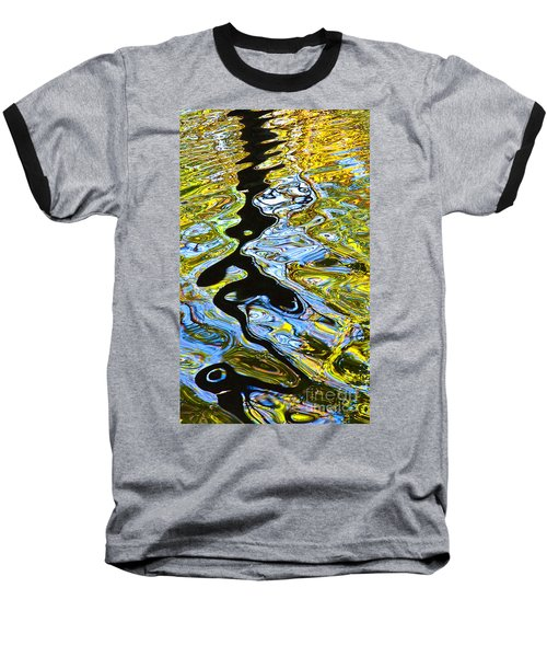 Mill Pond Reflection Baseball T-Shirt by Tom Cameron
