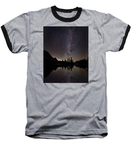 Mirror Lake Milky Way Baseball T-Shirt
