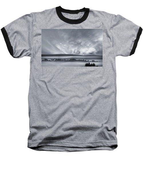 Misty Morning Baseball T-Shirt by Vladimir Kholostykh