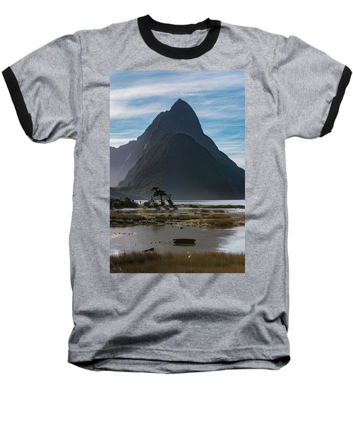 Baseball T-Shirt featuring the photograph Mitre Peak / Rahotu by Gary Eason