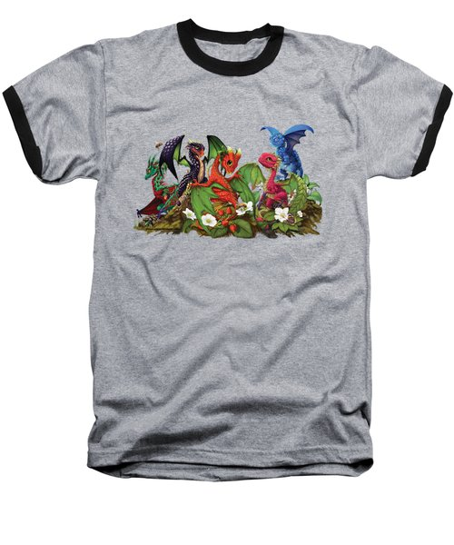 Baseball T-Shirt featuring the digital art Mixed Berries Dragons T-shirt by Stanley Morrison
