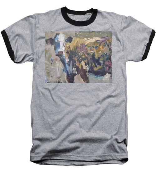 Modern Abstract Cow Painting Baseball T-Shirt by Robert Joyner