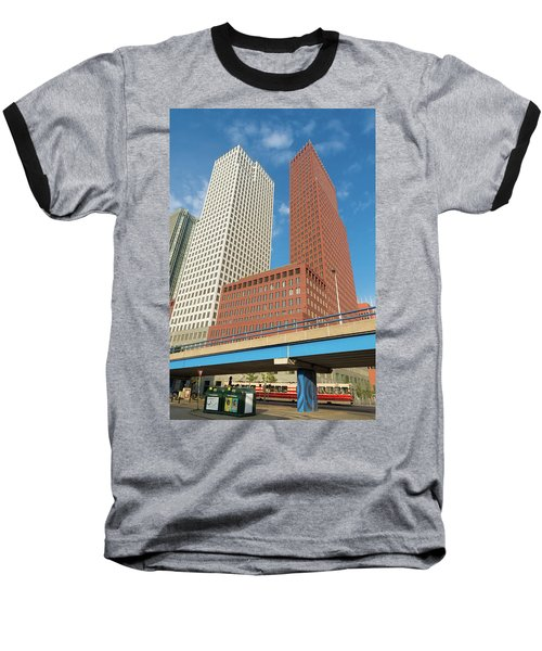 Modern Skyscrapers Baseball T-Shirt by Hans Engbers