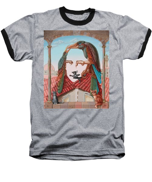 Mona Lisa. Air Baseball T-Shirt