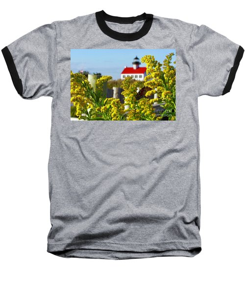 Monarch At East Point Light Baseball T-Shirt