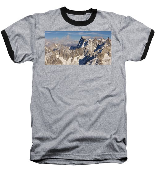 Mont Blanc Du Tacul Baseball T-Shirt