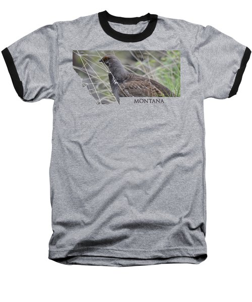 Montana-dusky Grouse Baseball T-Shirt