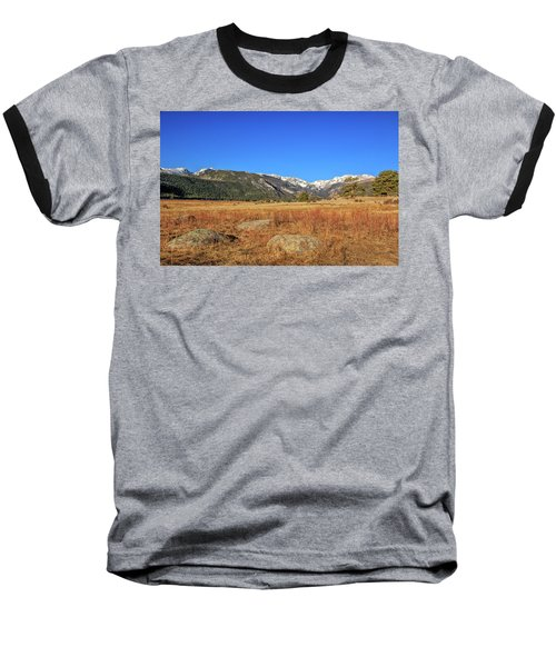 Baseball T-Shirt featuring the photograph Moraine Park In Rocky Mountain National Park by Peter Ciro
