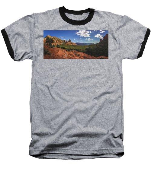 Mormon Canyon Panorama Baseball T-Shirt