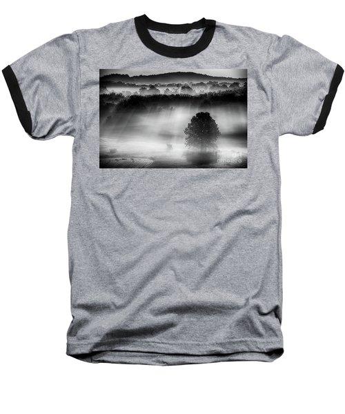 Morning Fog Baseball T-Shirt by Nicki McManus