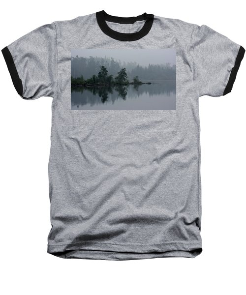 Morning Fog Over Cranberry Lake Baseball T-Shirt