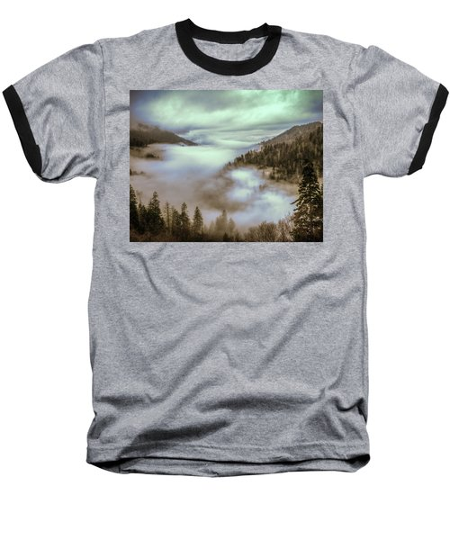 Morning Mountains II Baseball T-Shirt by Rebecca Hiatt