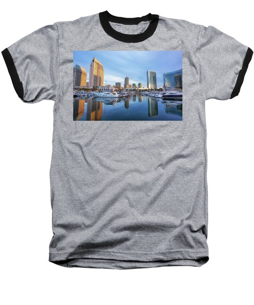 Morning Reflections Baseball T-Shirt by Joseph S Giacalone
