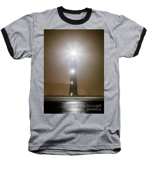 Morris Island Light House 140 Year Anniversary Lighting Baseball T-Shirt