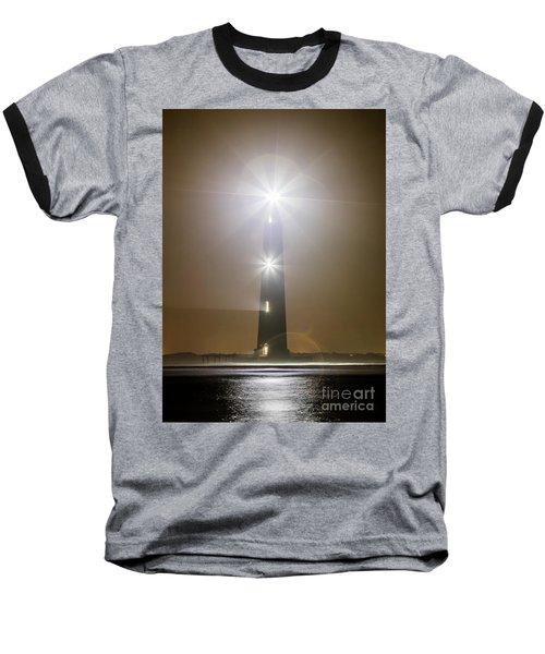 Morris Island Light House 140 Year Anniversary Lighting Baseball T-Shirt