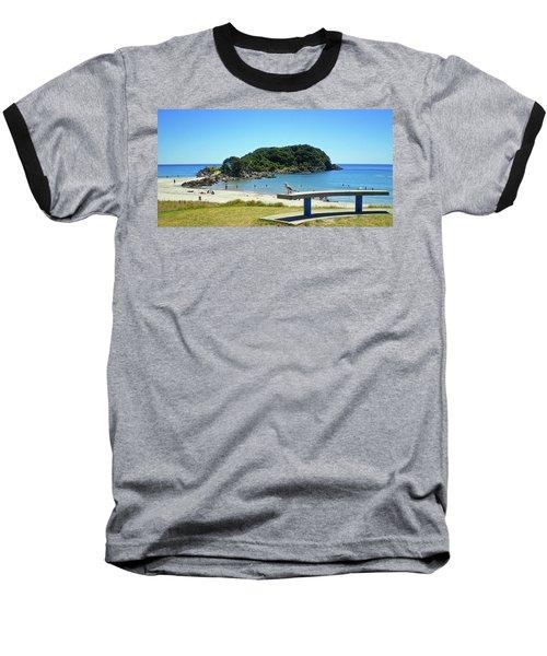 Mount Maunganui Beach 4 - Tauranga New Zealand Baseball T-Shirt