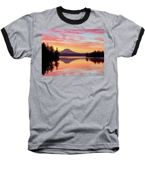 Mount Rainier Dawn Baseball T-Shirt
