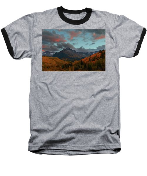Mount Sneffels Sunset During Autumn In Colorado Baseball T-Shirt