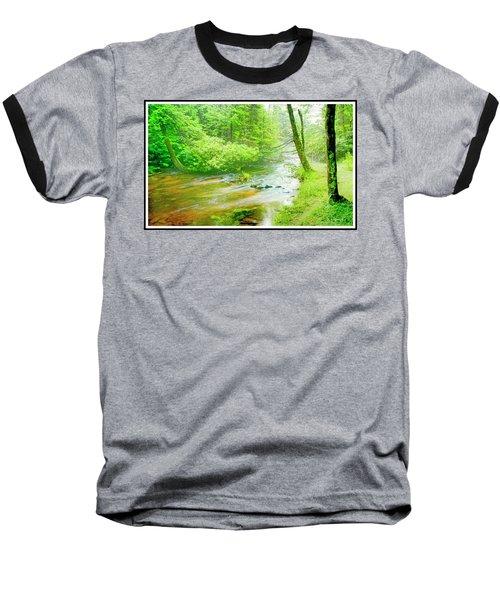 Mountain Stream, Pocono Mountains, Pennsylvania Baseball T-Shirt by A Gurmankin