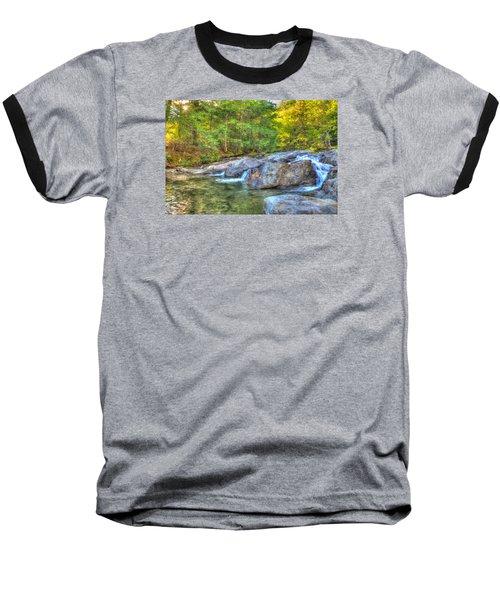Mountain Stream Waterfalls Baseball T-Shirt