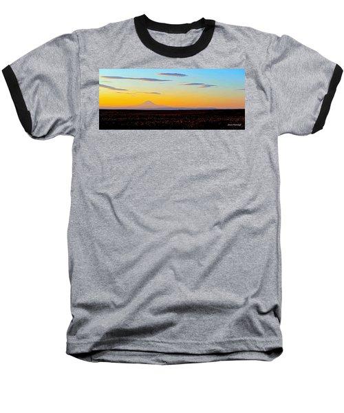 Mt. Adams Sunset Baseball T-Shirt