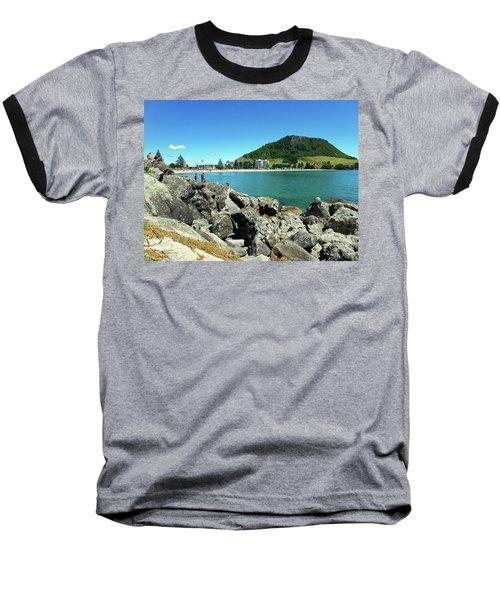 Mt Maunganui Beach 11 - Tauranga New Zealand Baseball T-Shirt